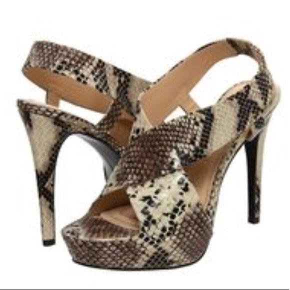 Diane Von Furstenberg scarpe   Dvf Zia Snakeskin Snakeskin Snakeskin Platform Heel   775e37